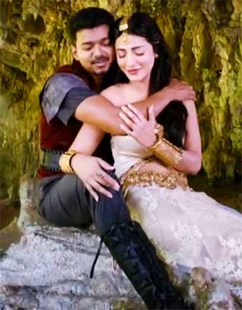Vijay and Shruti Haasan in Puli