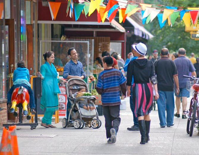 A scene from the documentary, In Jackson Heights.