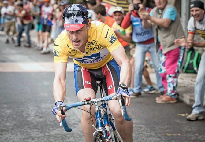 Ben Foster playing Armstrong in Stephen Frears's film, The Program