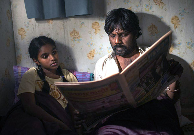 A scene from Dheepan, the award-winning film on Sri Lankan Tamils trying to make for a life for themselves in Paris.