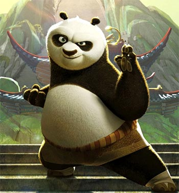 A scene from Kung Fu Panda 3