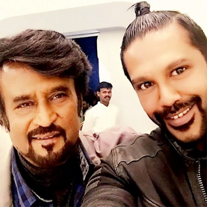 Rajinikanth tried on all the outfits that I made for him :   Rocky S, Indian fashion designer