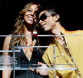 Mariah Carey pays tribute to Prince at Paris gig