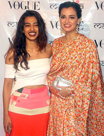 Current Bollywood News & Movies - Indian Movie Reviews, Hindi Music & Gossip - PIX: Radhika Apte, Dia Mirza mingle at a fashion event