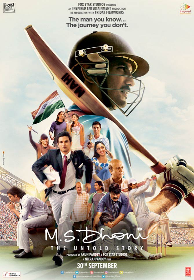 Current Bollywood News & Movies - Indian Movie Reviews, Hindi Music & Gossip - Like the new poster of MS Dhoni: The Untold Story?