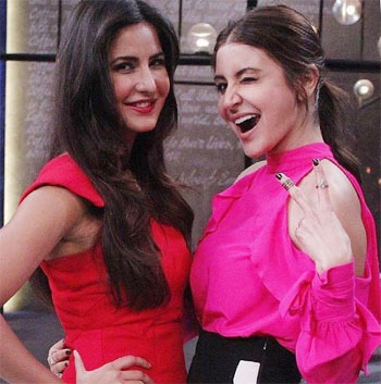 Current Bollywood News & Movies - Indian Movie Reviews, Hindi Music & Gossip - Watch: Katrina-Anushka on Koffee with Karan
