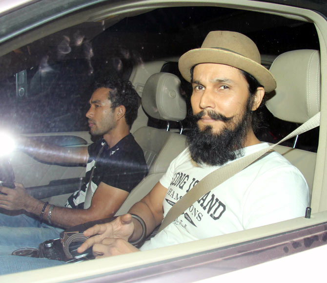 Safety first is Randeep Hooda's motto