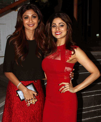 Current Bollywood News & Movies - Indian Movie Reviews, Hindi Music & Gossip - PIX: Shilpa Shetty celebrates sister Shamita's birthday