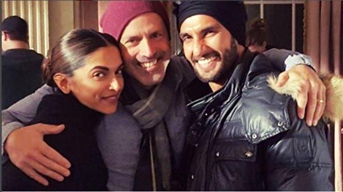 Ranveer Singh, DJ Caruso,  Deepika Padukone