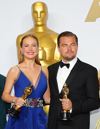 Leonardo DiCaprio, Brie Larson win top awards
