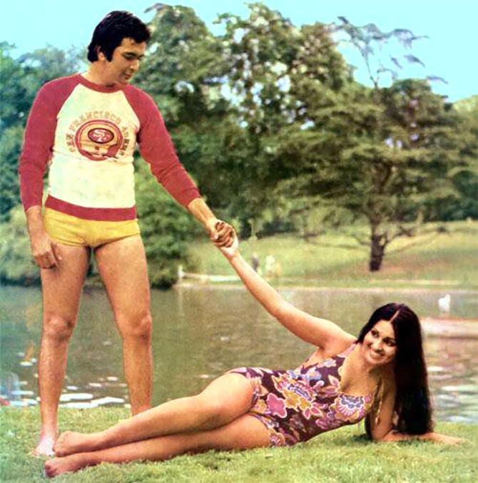 Rishi Kapoor and Reena Roy