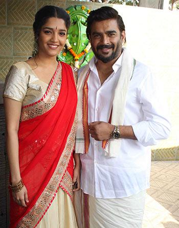 Current Bollywood News & Movies - Indian Movie Reviews, Hindi Music & Gossip - PIX: Madhavan, Ritika celebrate Pongal