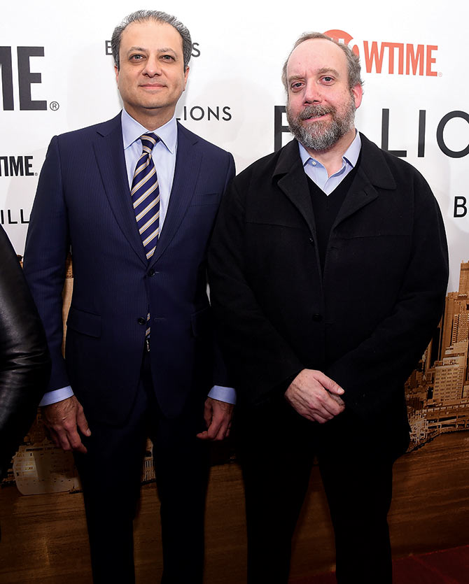 Preet Bharara and Paul Giamatti