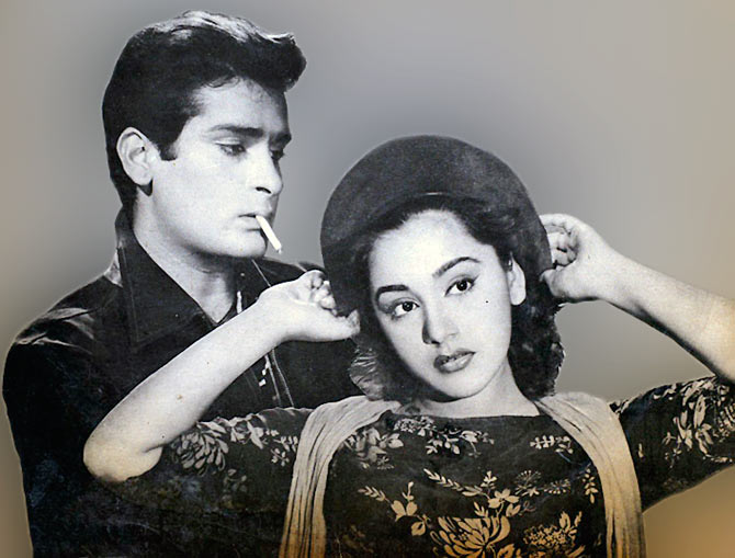Shammi Kapoor and Amita in Tumsa Nahi Dekha