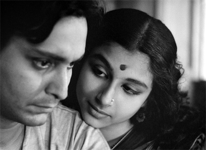 Soumitra Chatterjee and Sharmila Tagore in Satyajit Ray's classic Apur Sansar