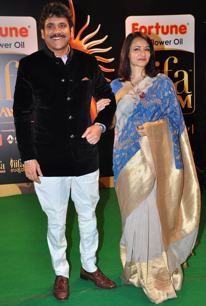 Nagarjuna with wife