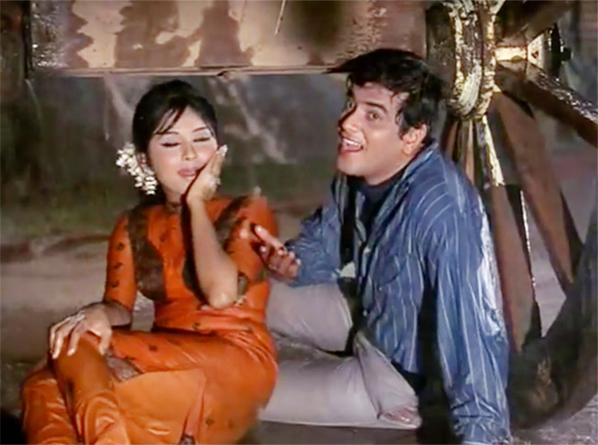 Jeetendra and Leena Chandarvarkar