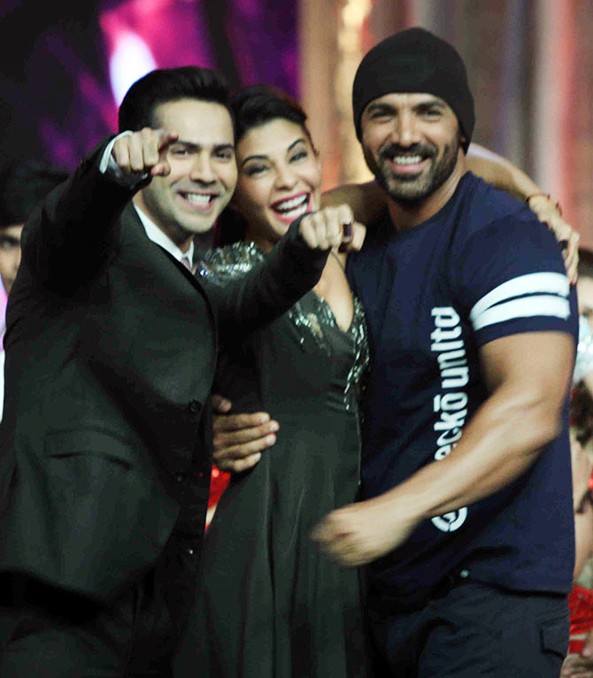 Current Bollywood News & Movies - Indian Movie Reviews, Hindi Music & Gossip - Watch John, Jacqueline, Varun on TV this weekend!