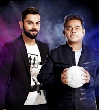Current Bollywood News & Movies - Indian Movie Reviews, Hindi Music & Gossip - Watch: Rahman, Virat Kohli jam together