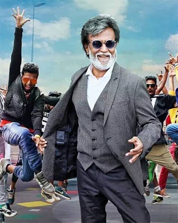 Current Bollywood News & Movies - Indian Movie Reviews, Hindi Music & Gossip - Review: Rajinikanth has an infectiously good time in Kabali