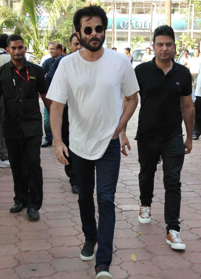 Current Bollywood News & Movies - Indian Movie Reviews, Hindi Music & Gossip - PIX: Anil Kapoor, Karan Johar at Vikas Mohan's prayer meet