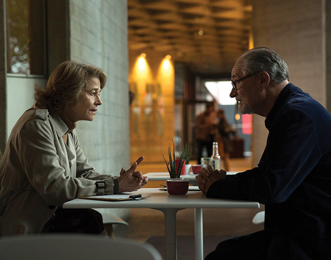 Jim Broadbent and Charlotte Rampling in The Sense of an Ending