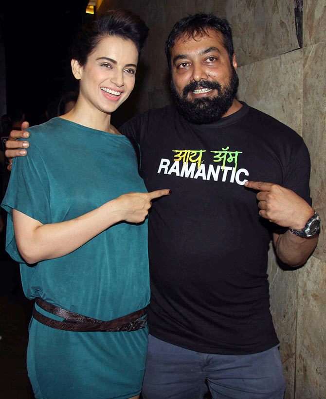 Current Bollywood News & Movies - Indian Movie Reviews, Hindi Music & Gossip - PIX: Kangana watches Raman Raghav 2.0 with Anurag Kashyap