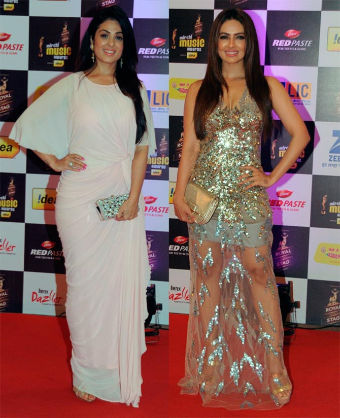 Anjana Sukhani and Sana Khan