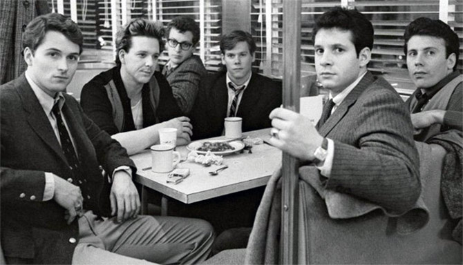 A scene from Barry Levinson's Diner.