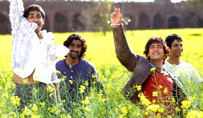Siddharth, Kunal Kapoor, Aamir Khan and Sharman Joshi