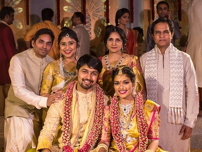 pix chiranjeevis daughter weds rediffcom movies