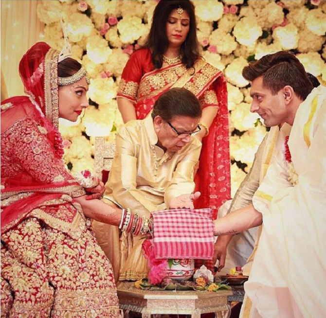 Candid Pictures From Bipasha Karan S Dreamy Wedding