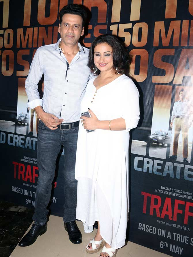 Manoj Bajpyee and Divya Dutta