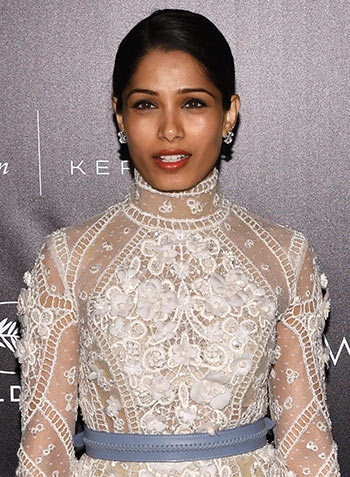 Cannes 2016: Freida Pinto is a vision in Elie Saab couture - Rediff ...