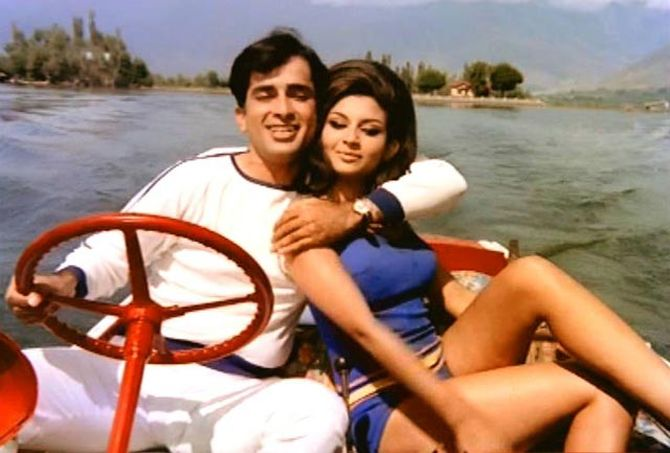 Shashi Kapoor seen here with one of his favourite co-stars, Sharmila Tagore.
