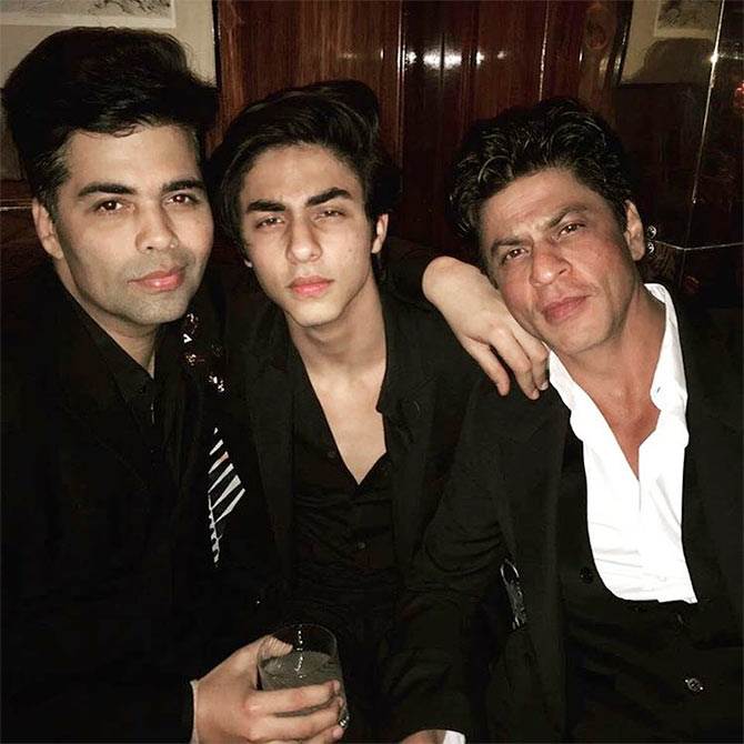 Karan Johar, Shah Rukh Khan and Aryan