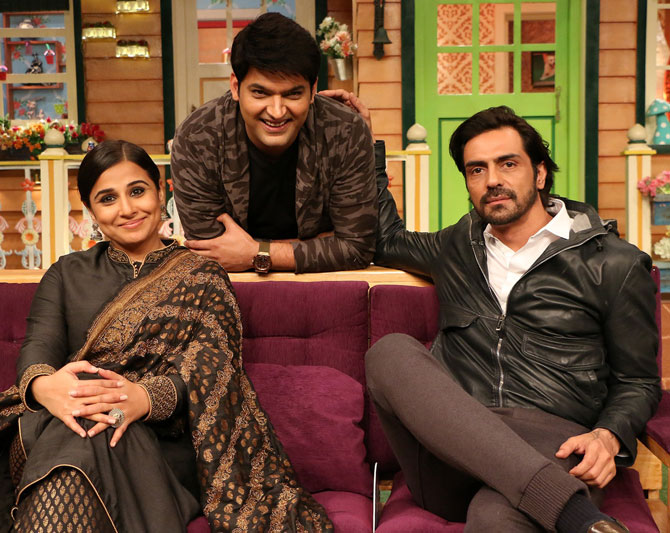 PIX: Vidya Balan-Arjun Rampal on The Kapil Sharma Show