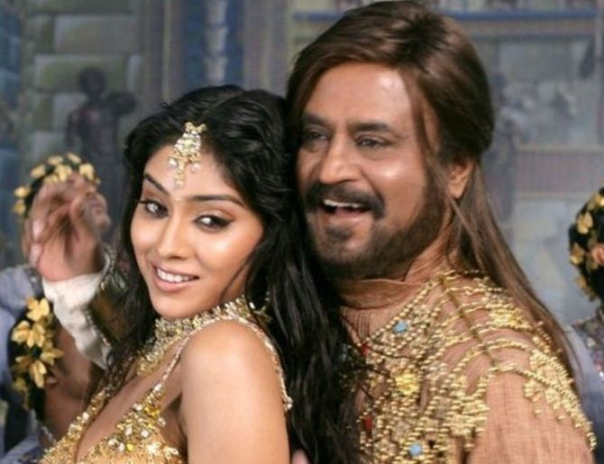 Shriya Saran and Rajinikanth