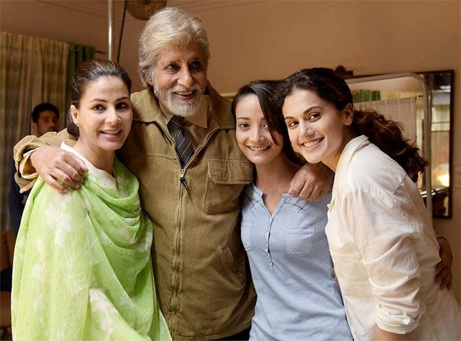 Kirti Kulhari, Amitabh Bachchan, Andrea Tariang and Taapsee Pannu
