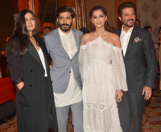 PIX: Anil Kapoor cheers for his son Harshvardhan - Rediff.com