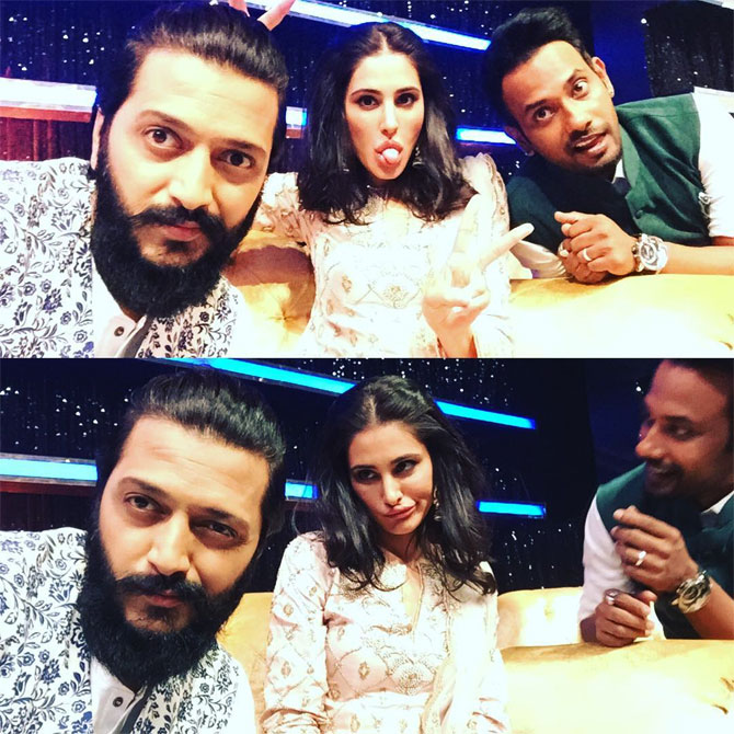 Riteish Deshmukh, Nargis Fakhri and Dharmesh