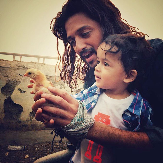 Riteish Deshmukh with his son Riaan