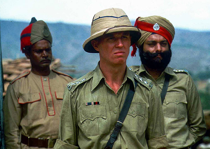 Tim Pigott-Smith with Siddharth Kak in Jewel in the Crown