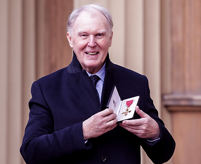 Tim Pigott-Smith was awarded the OBE in 2017
