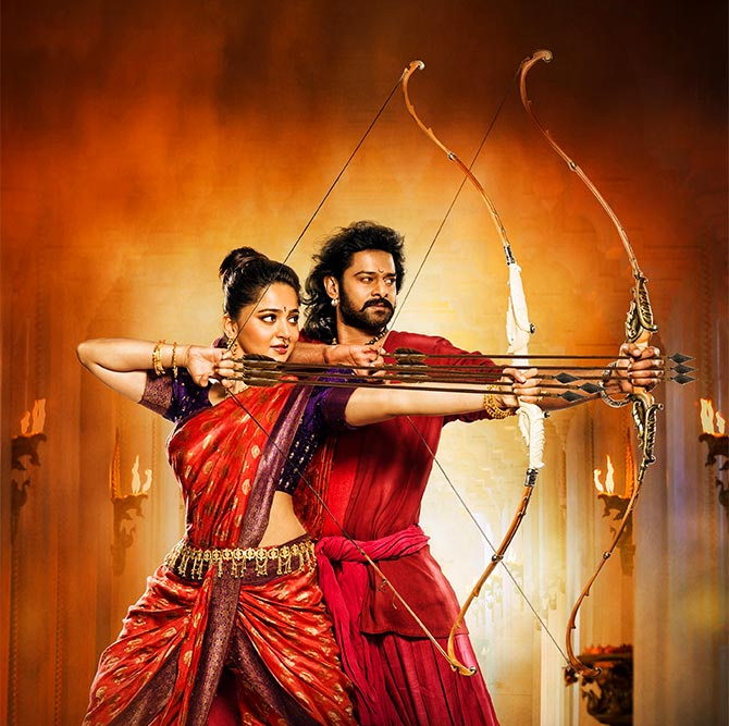 Prabhas and Anushka Shetty in Baahubali 2