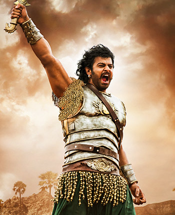 Prabhas in and as Baahubali