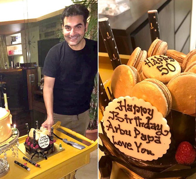 Malaika celebrates Arbaaz Khan's 50th birthday - Rediff ...