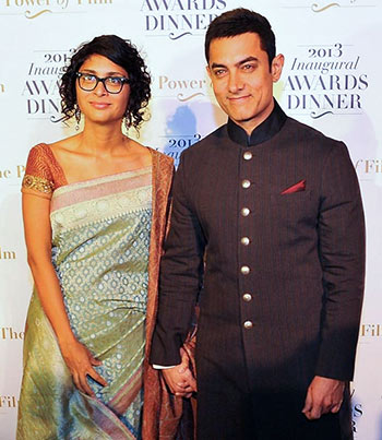 Kiran Rao with Aamir Khan