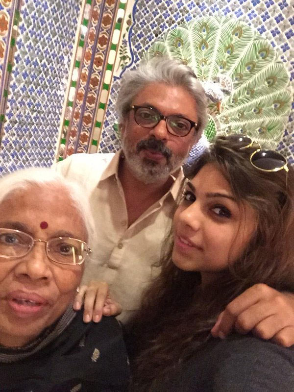 Sanjay Leela Bhansali with mother Leela and niece Sharmin