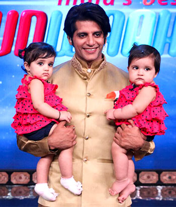 Current Bollywood News & Movies - Indian Movie Reviews, Hindi Music & Gossip - PIX: Karanvir Bohra's adorable twin daughters debut on TV